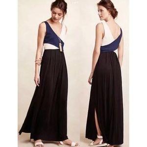 Anthropologie Maeve Elysian Colorblock Maxi dress